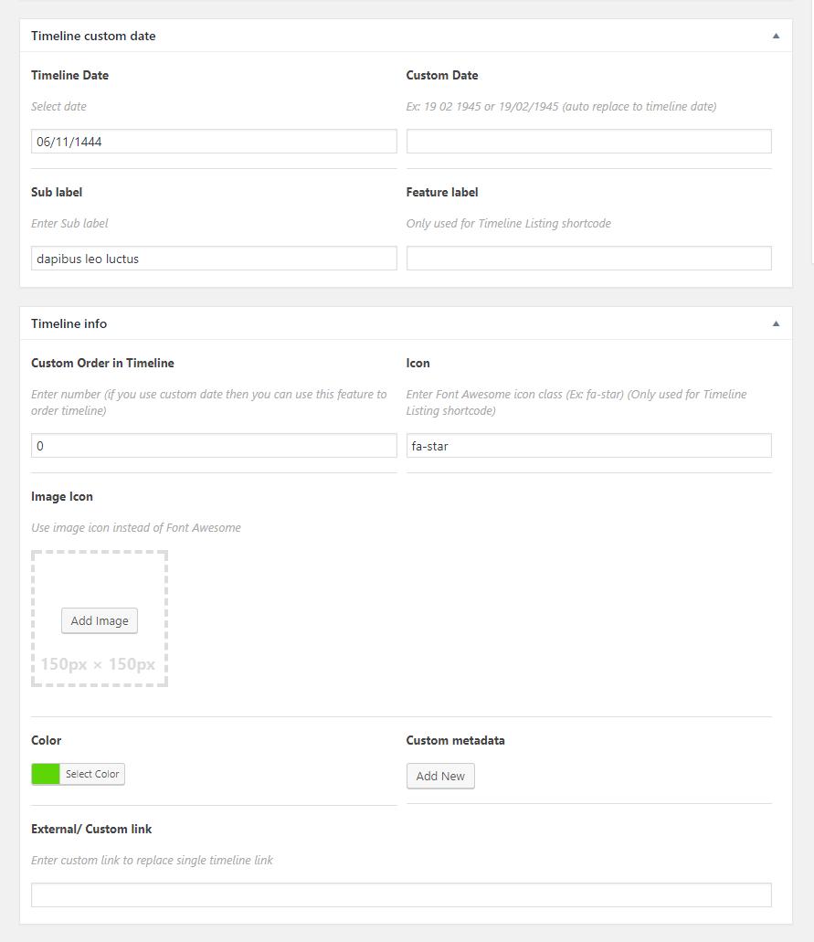 WP Timeline - Responsive Vertical and horizontal timeline plugin